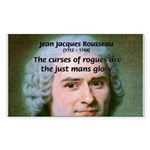 French Philosopher Rousseau Rectangle Sticker