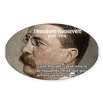 President Theodore Roosevelt Oval Sticker