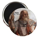 "Plato: Philosophy / Equality 2.25"" Magnet (10 pack"