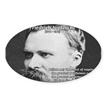 Nietzsche: Live Dangerously Oval Sticker