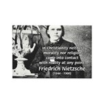 Critic of Religion: Nietzsche Rectangle Magnet (10
