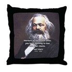Union of Workers: Marx Throw Pillow