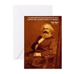 Power of Change Karl Marx Greeting Cards (Package