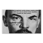 Capitalism and Lenin Rectangle Sticker
