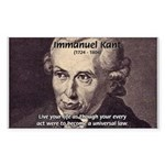Universal Law: Kant Rectangle Sticker