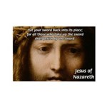 Jesus Peace and Love Rectangle Magnet (100 pack)
