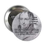 """History Lessons Georg Hegel 2.25"""" Button (100 pack"""