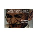 Peace Activist Gandhi Rectangle Magnet (10 pack)