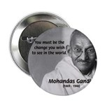 "Loyalty to Cause: Gandhi 2.25"" Button (10 pack)"