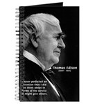 Inventor Thomas Edison Journal
