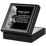 Inventor Thomas Edison Keepsake Box