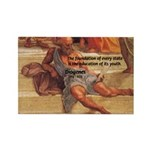 Cynic Philosophy Diogenes Rectangle Magnet (100 pa