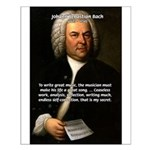 Composer J.S. Bach Small Poster