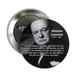 "World War 2 Churchill 2.25"" Button (100 pack)"