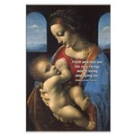Woman and Child: Da Vinci Large Poster