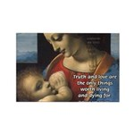 Woman and Child: Da Vinci Rectangle Magnet (10 pac