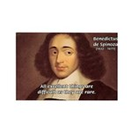 Spinoza Ethics Philosophy Rectangle Magnet (100 pa