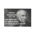 Nature Wordsworth Poetry Rectangle Magnet (100 pac