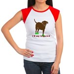 i love my tripawd three legged chocolate lab cap sleeve t-shirt