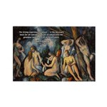 Cezanne Landscape Nude Rectangle Magnet