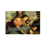 Leonardo da Vinci Art Spirit Rectangle Magnet (100