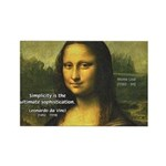 Mona Lisa: Da Vinci Quote Rectangle Magnet (10 pac