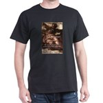 Michelangelo Perfection Quote Black T-Shirt