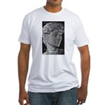 David with Michelangelo Quote Fitted T-Shirt