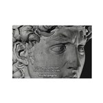 David with Michelangelo Quote Rectangle Magnet (10