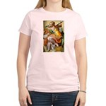 Words on Genius Michelangelo Women's Pink T-Shirt
