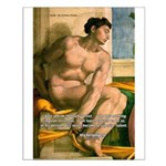 Michelangelo Nude Painting Small Poster