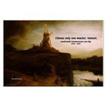Rembrandt Painting & Quote Large Poster