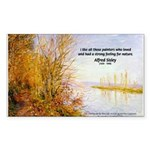 Alfred Sisley Nature Quote Rectangle Sticker