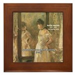 Aesop Quote Psyche Painting Framed Tile