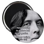 """Playwright Oscar Wilde 2.25"""" Magnet (10 pack)"""
